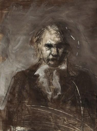 Emanuele Convento - Omaggio a Victor Hugo, 2014 tempera e pastelli su carta, cm 50 x 37