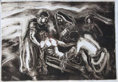 Emanuele Convento - Deposizione, 2012 monotipo, mm 340 x 490