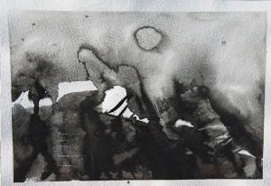 Emanuele Convento - Alta Valtellina, 2015 china e pastelli su carta, cm 18 x 25