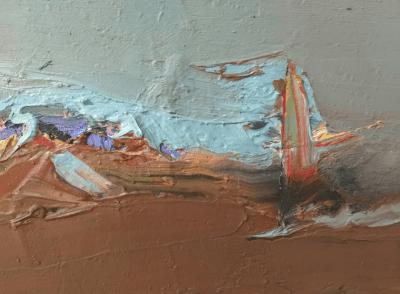 Emanuele Convento - Onda di battaglia, 2020, olio su cartoncini, cm 13 x 18