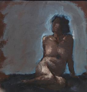 Emanuele Convento - Sara 2, 2018, tempera grassa su cartoncino intelaiato, cm 56 x 43