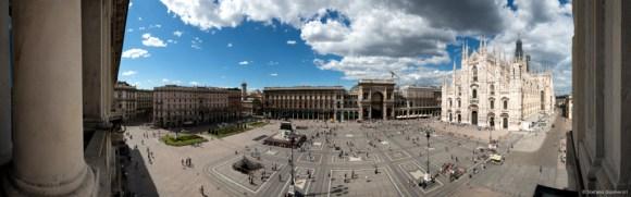 Panoramica Duomo Milano