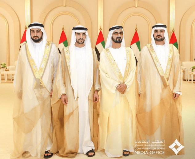 شاهد بالفيديو فرحة وطن الإمارات تزف اليوم حمدان ومكتوم