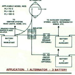 Three Line Solar Diagram Yamaha G1 Wiring Battery Isolators E Marine Systems 1 Alternator 2 3