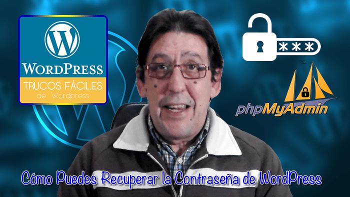 Recuperar la contraseña en WordPress