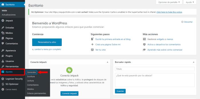 configurar-ajustes-generales-de-wprdpress