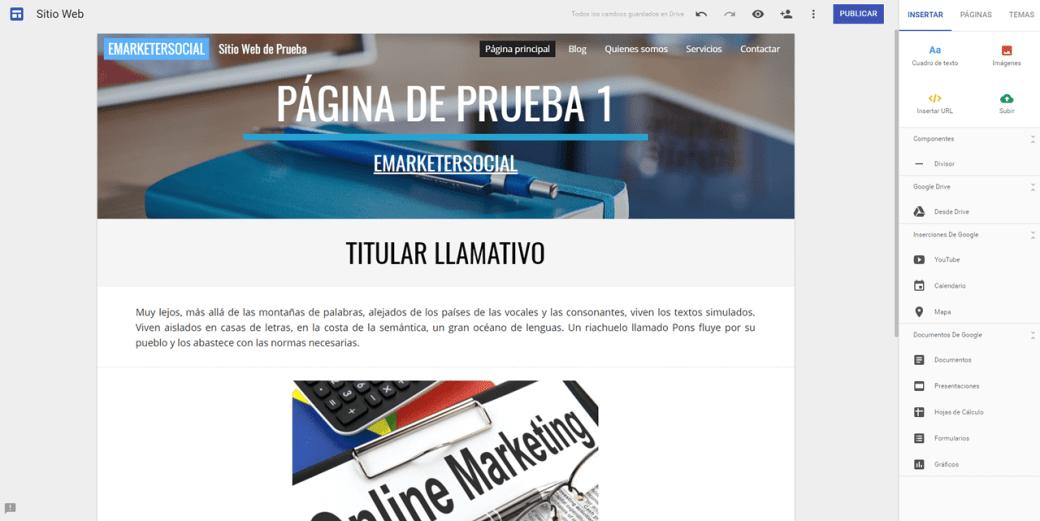 Creación del Sitio Web