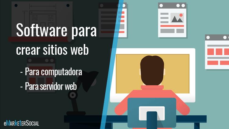 2 tipos de software para crear sitios web