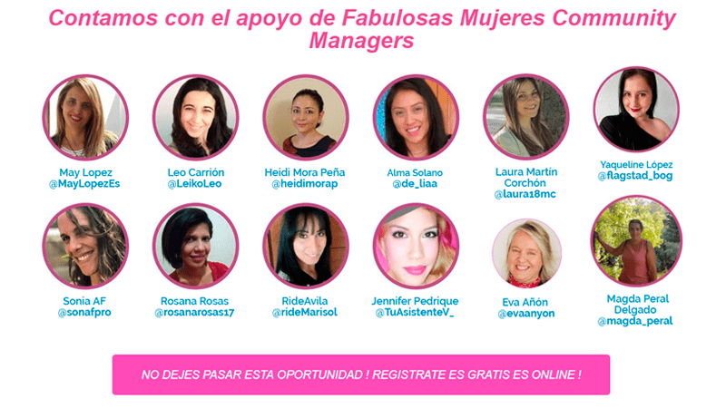 Community Managers para #EmprendeMujer45
