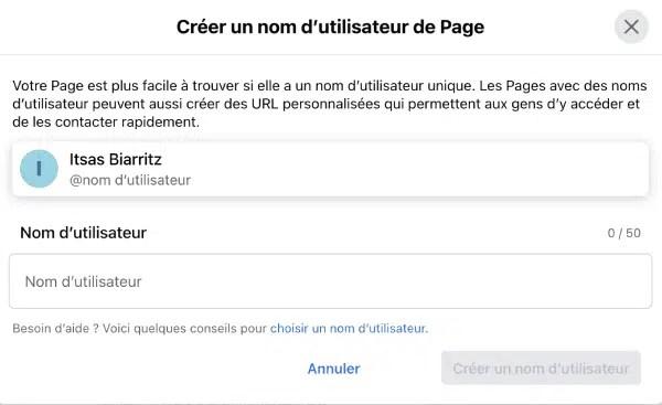 create-username-facebook-page