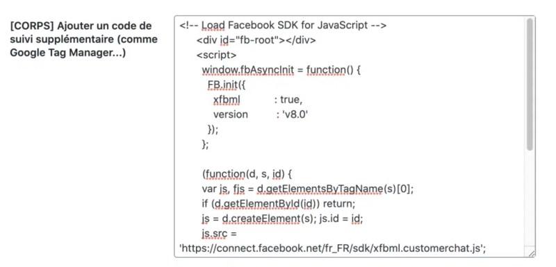 code du plugin seopress messenger