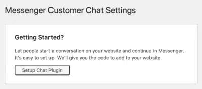 set chat plugin messenger facebook