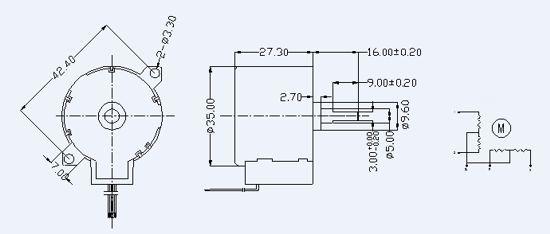 35BYJ-412B High Quality Stepper Motor 12V With 4-Phase 5