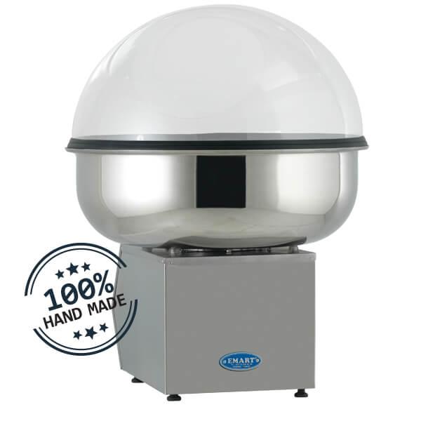 side cotton candy machine