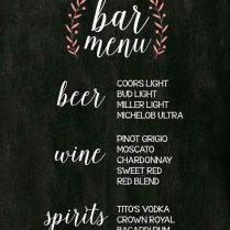 1000 Ideas About Wedding Bar Menu On Emasscraft Org