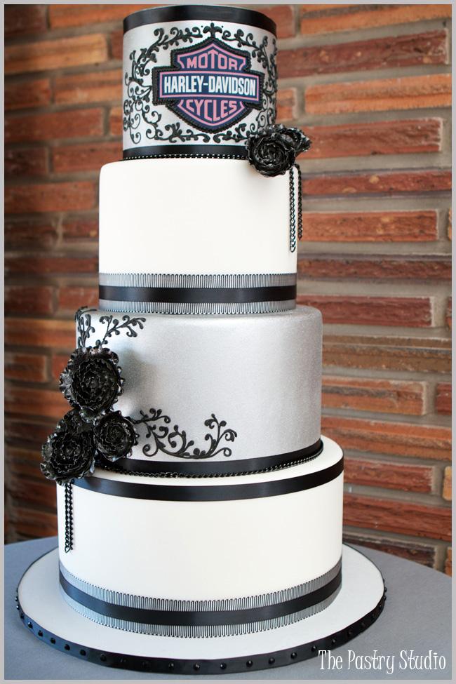 Harley Davidson Wedding Cakes