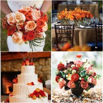 Fall Wedding Flowers With Orange Details