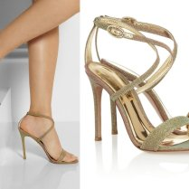 Gianvito Rossi Gold Ombre Wedding Shoes