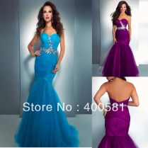 Purple Tulle Wedding Dress