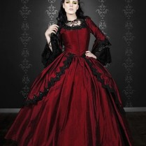 Red Gothic Wedding Dresses, Stylish And Sophisticated Red Gothic