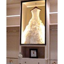 Wedding Dress Shadow Box In Closet