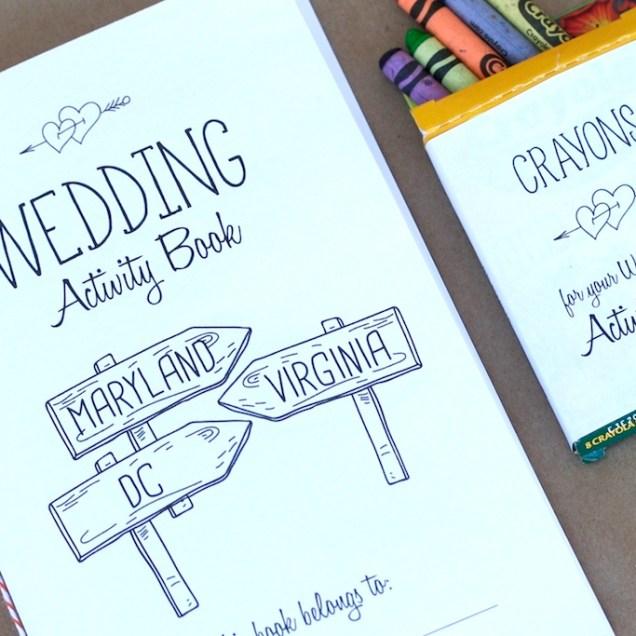 Wedding Kids Activity Book Free Printable For Washington Dc Area