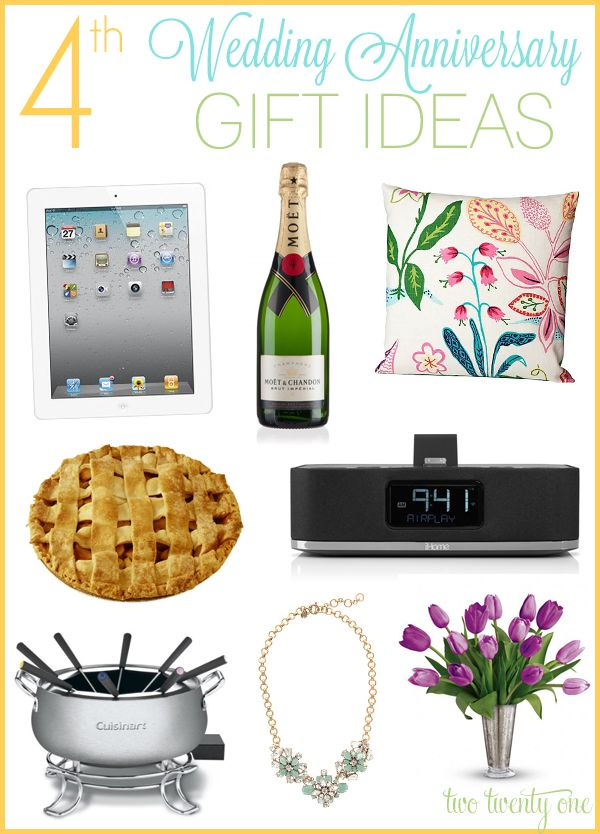 4th Wedding Anniversary Gift Ideas For Him