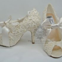 1000 Images About Lace Wedding Bridal Shoes On Emasscraft Org