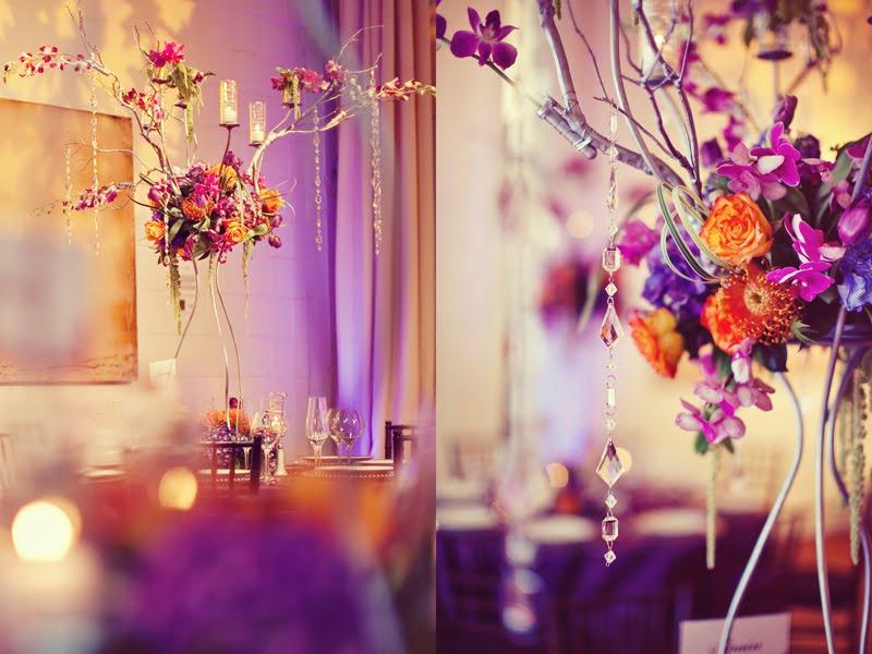 Orange And Purple Wedding Colors
