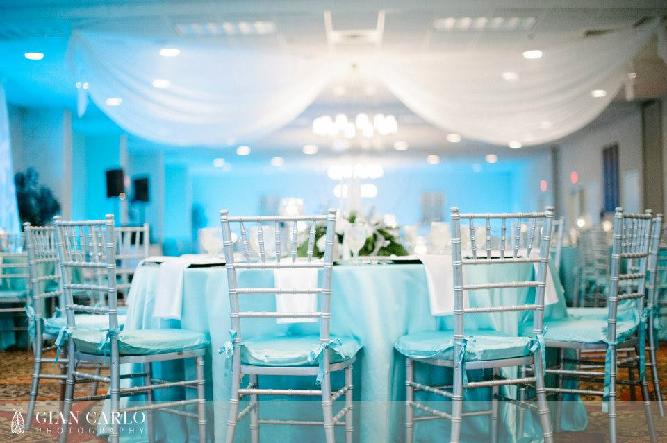 tiffany blue wedding chair covers best executive desk teal and silver