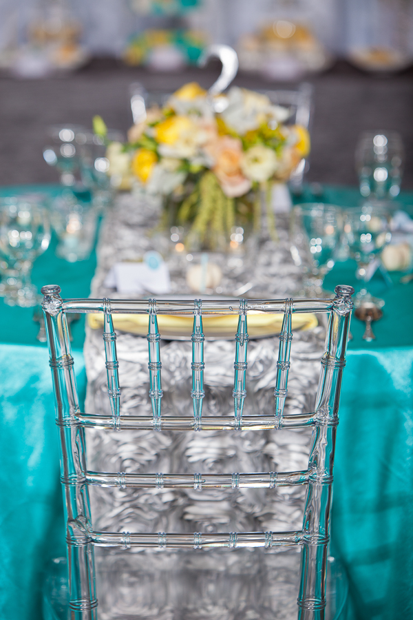Aqua Blue And Silver Wedding Decorations
