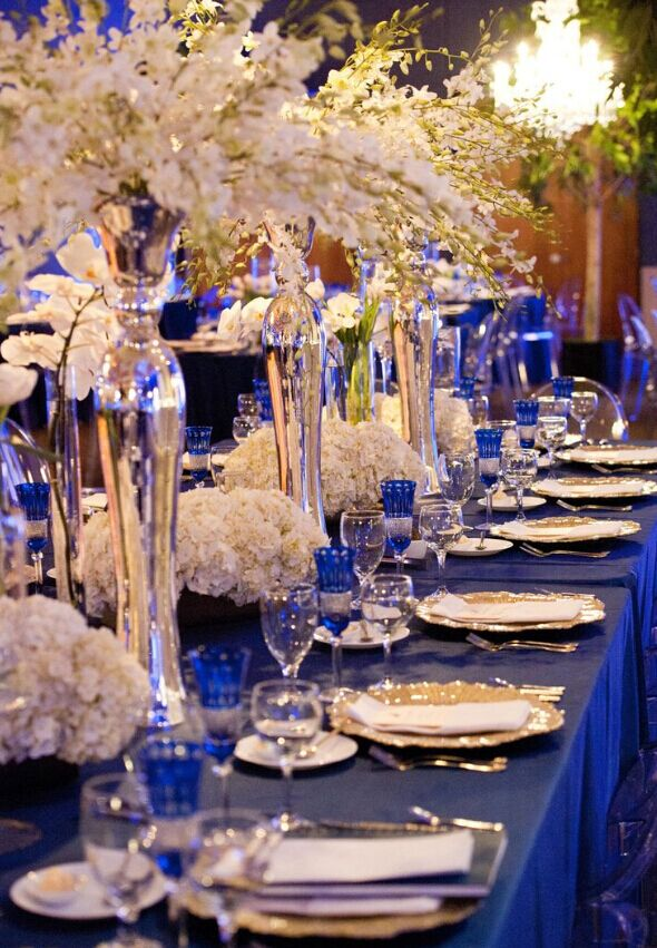 Royal Blue And Champagne Wedding Theme