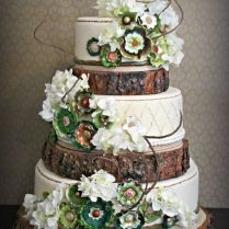 18 Rustic Wood Tree Slice Wedding Cake Base Or Cupcake Stand For