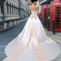 2011 New Popular Long Tail Korean Big Bow Wedding Dress Wedding