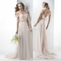 2015 Modern Style Sexy V Neck Beach Boho Wedding Dress Debutante