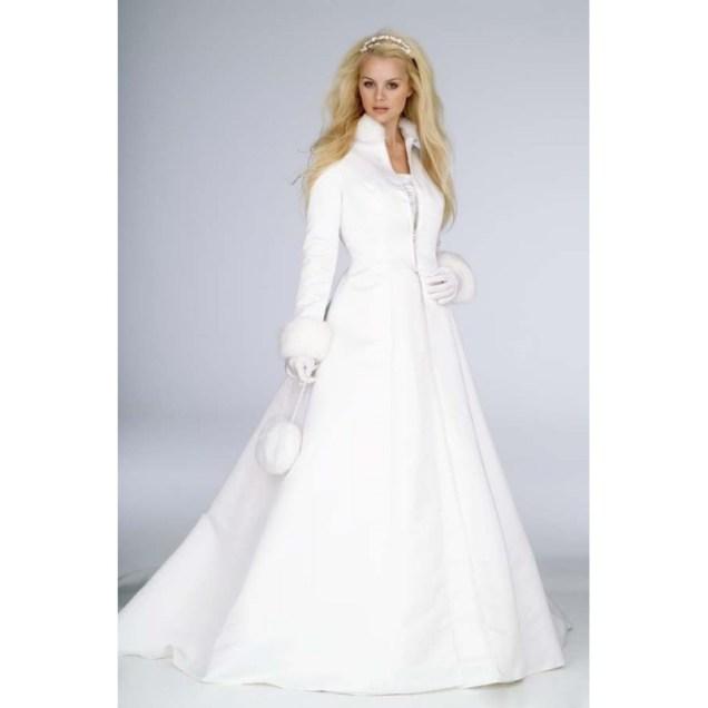 2017 New White Winter Wedding Dress Cloak High Collar Satin Long