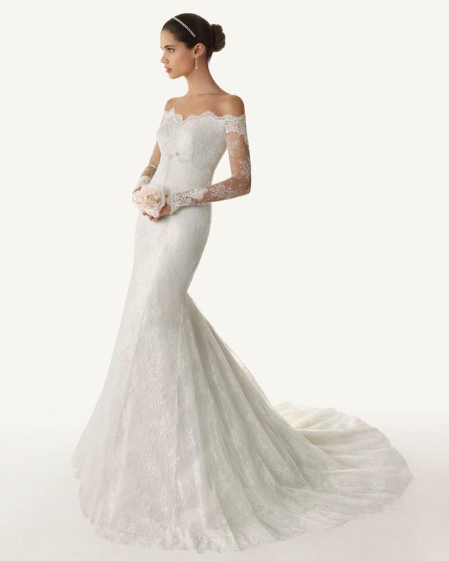7a57f3d0092 Off Shoulder Lace Wedding Dress