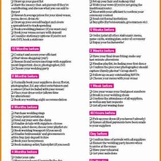 4 Simple Wedding Checklist