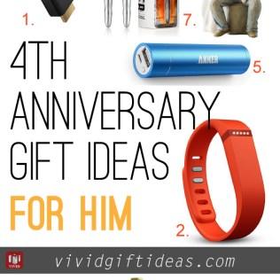 4th Wedding Anniversary Gift Ideas For Him, 3rd Wedding