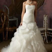 Above Is A Ruffle Organza Mermaid Wedding Dress With Removable