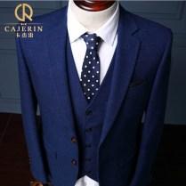 Aliexpress Com Buy Cajerin Plaid Royal Blue Tuxedo Skinny Groom