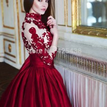 Aliexpress Com Buy Dream Red Wedding Dresses Long Sleeve