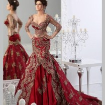 Aliexpress Com Buy Luxury Two Pieces Red Wedding Dresses With