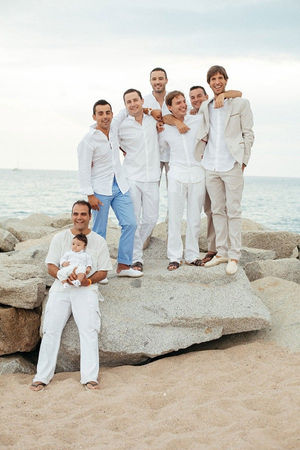 All White Beach Wedding In Spain