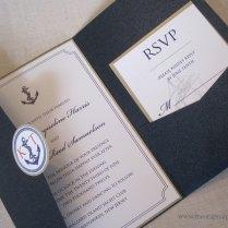 Anchor Themed Wedding Invitations, Nautical Theme Wedding