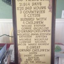 Anniversary Decorations, 60th Anniversary And Grandparents On