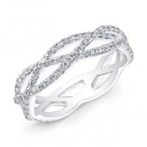 Art Deco Style Twisted Shank Diamond Wedding Band