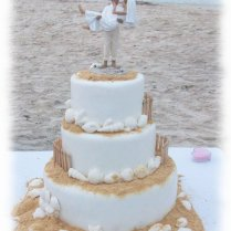 Beach Themed Wedding Cakes Endearing Beach Themed Wedding Cake