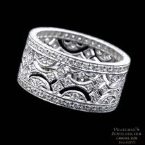 Beverley K Jewelry Platinum Wide Diamond Wedding Band