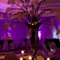 Black And Plum Purple Wedding And Reception